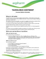TACROLIMUS INFORMATION