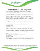 Zinc Sulphate cream
